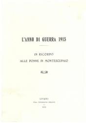 L' anno di guerra 1915
