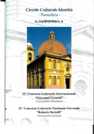 23°. concorso letterario internazionale Giovanni Gronchi